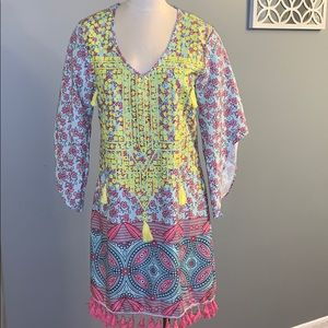 Boho beach dress or swimsuit cover size XL